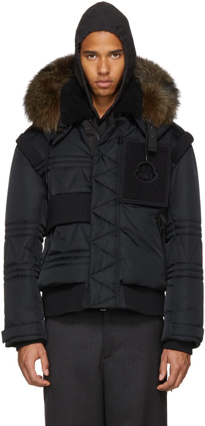 Image of Moncler C Black Down Connor Jacket