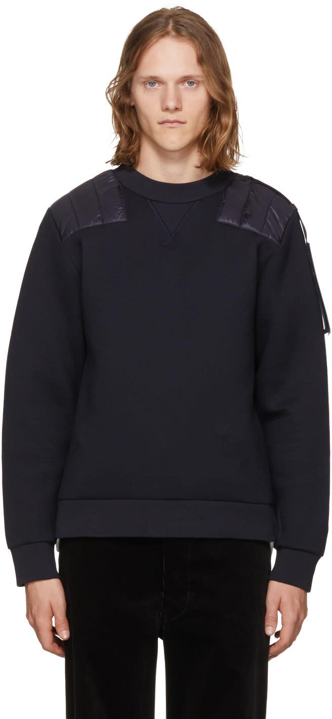 Image of Moncler C Navy Shoulder Patch Sweatshirt