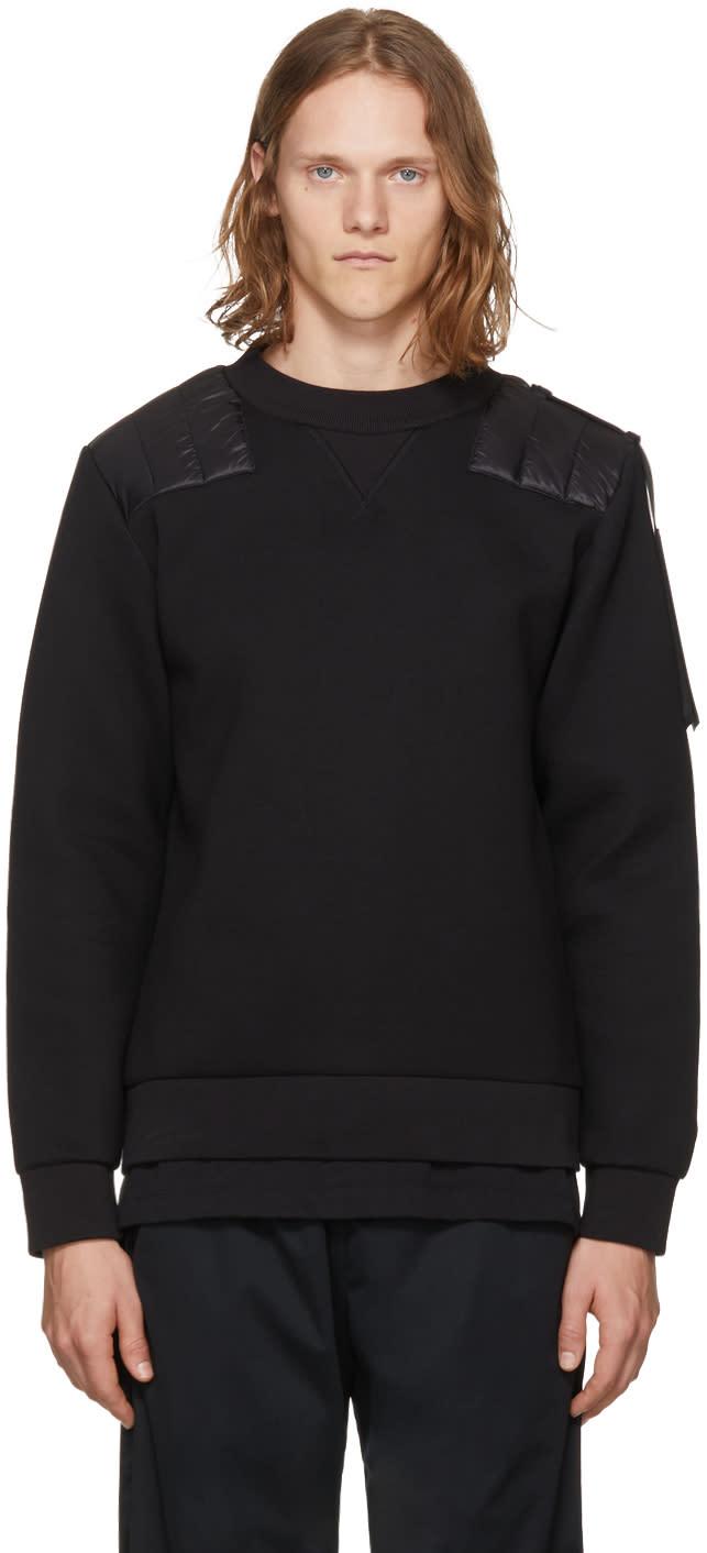 Image of Moncler C Black Shoulder Patch Sweatshirt