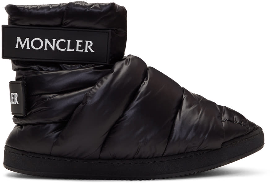 Image of Moncler C Black Puffer High-top Sneakers
