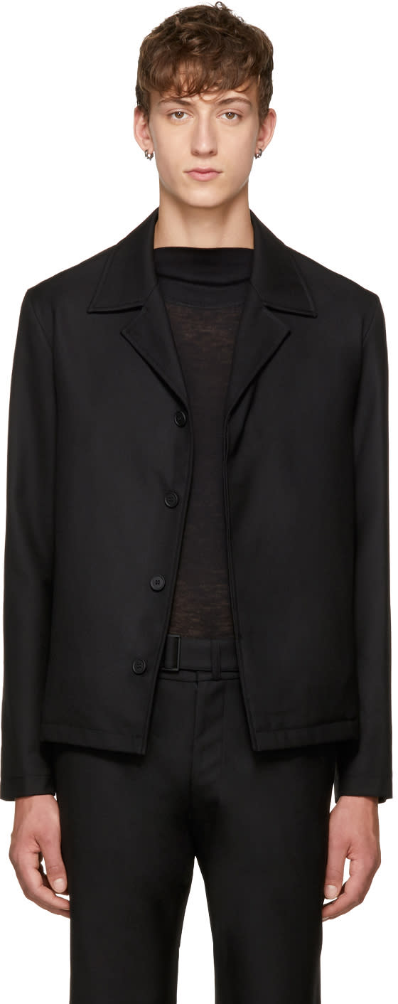 Image of Mackintosh 0001 Black Button-up Jacket