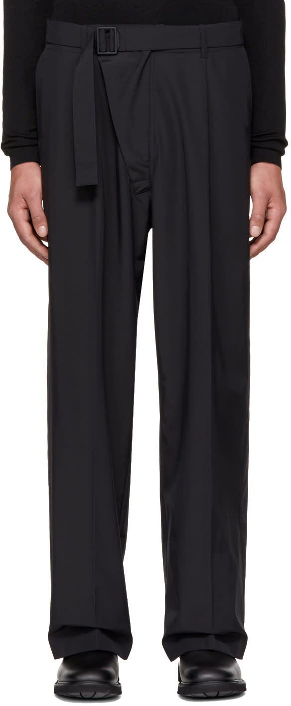 Image of Mackintosh 0001 Black Belted Trousers