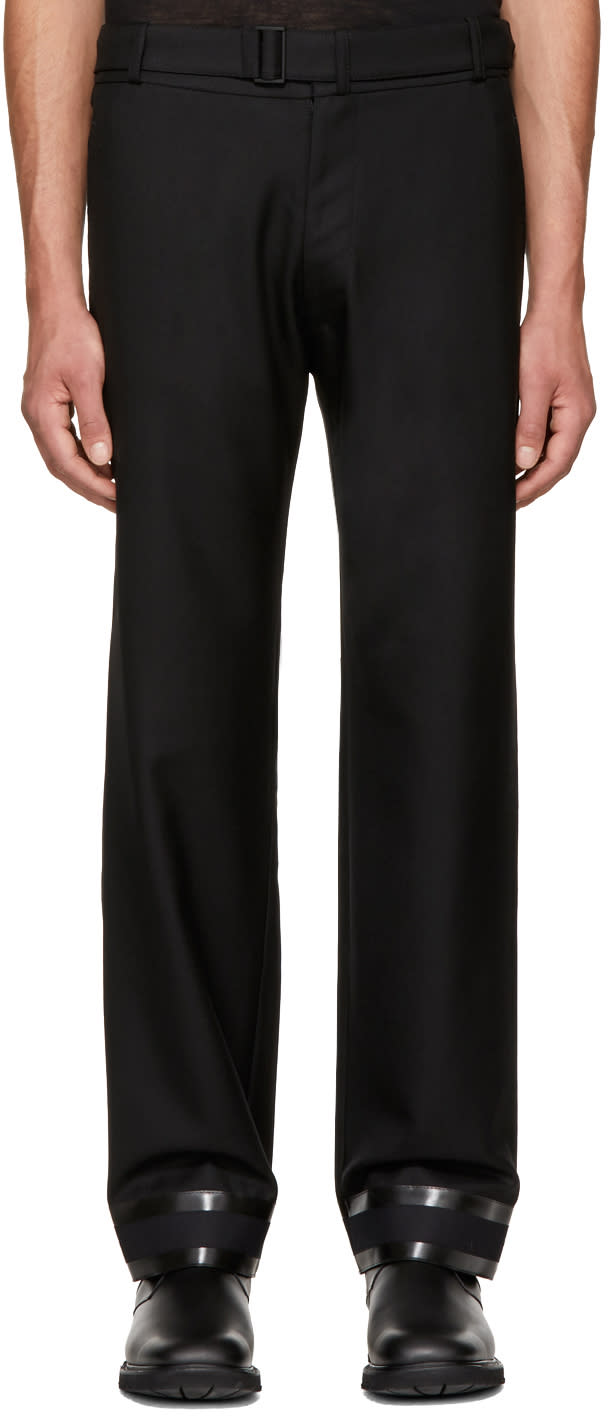Image of Mackintosh 0001 Black Wide-leg Trousers