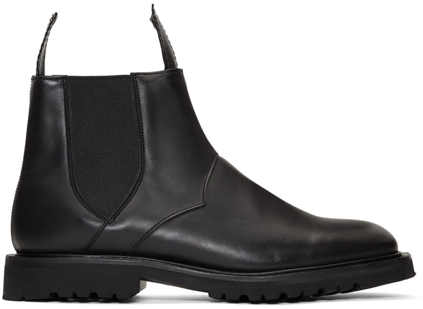 Image of Mackintosh 0001 Black Trickers Edition Chelsea Boots