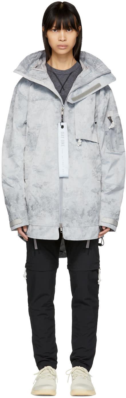 Image of Adidas Day One Grey Three-layer Parka