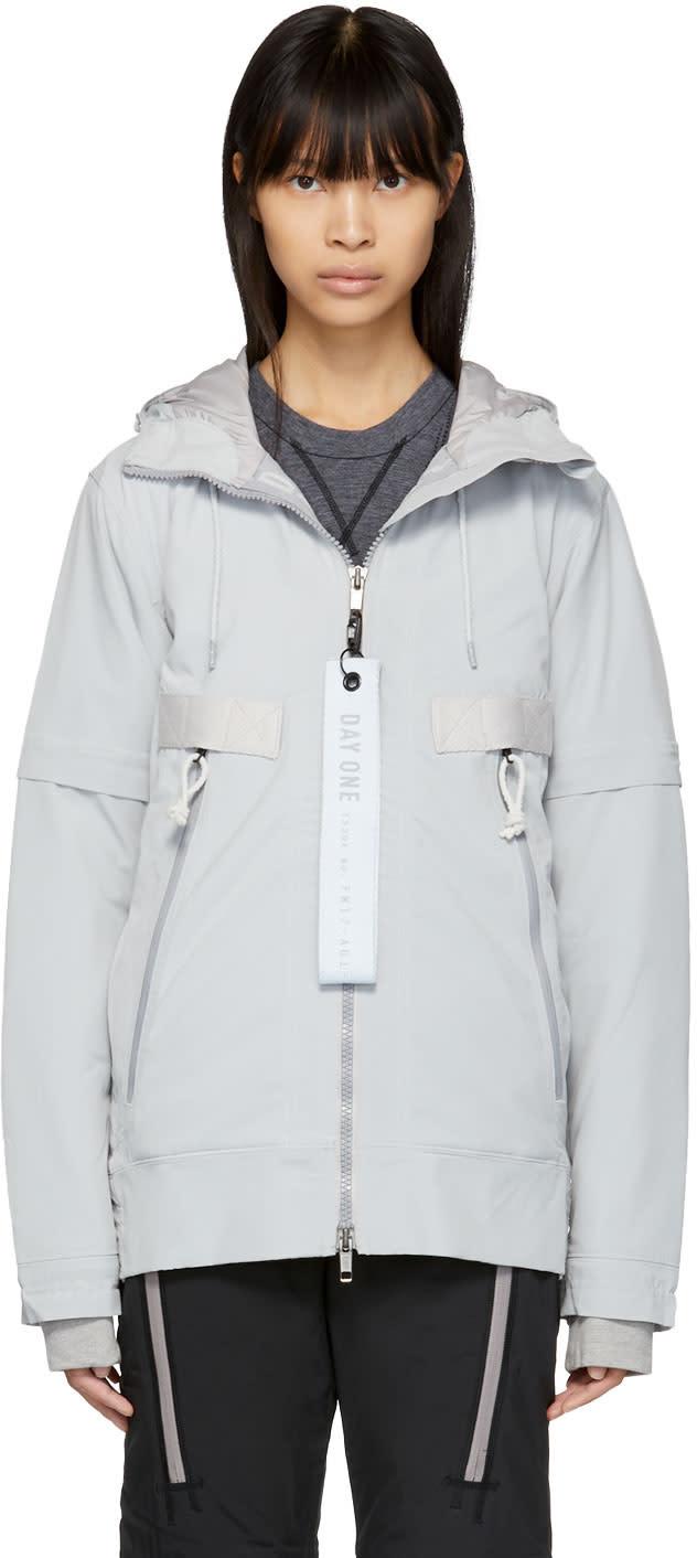 Image of Adidas Day One Grey Polar Tech Lightweight Jacket