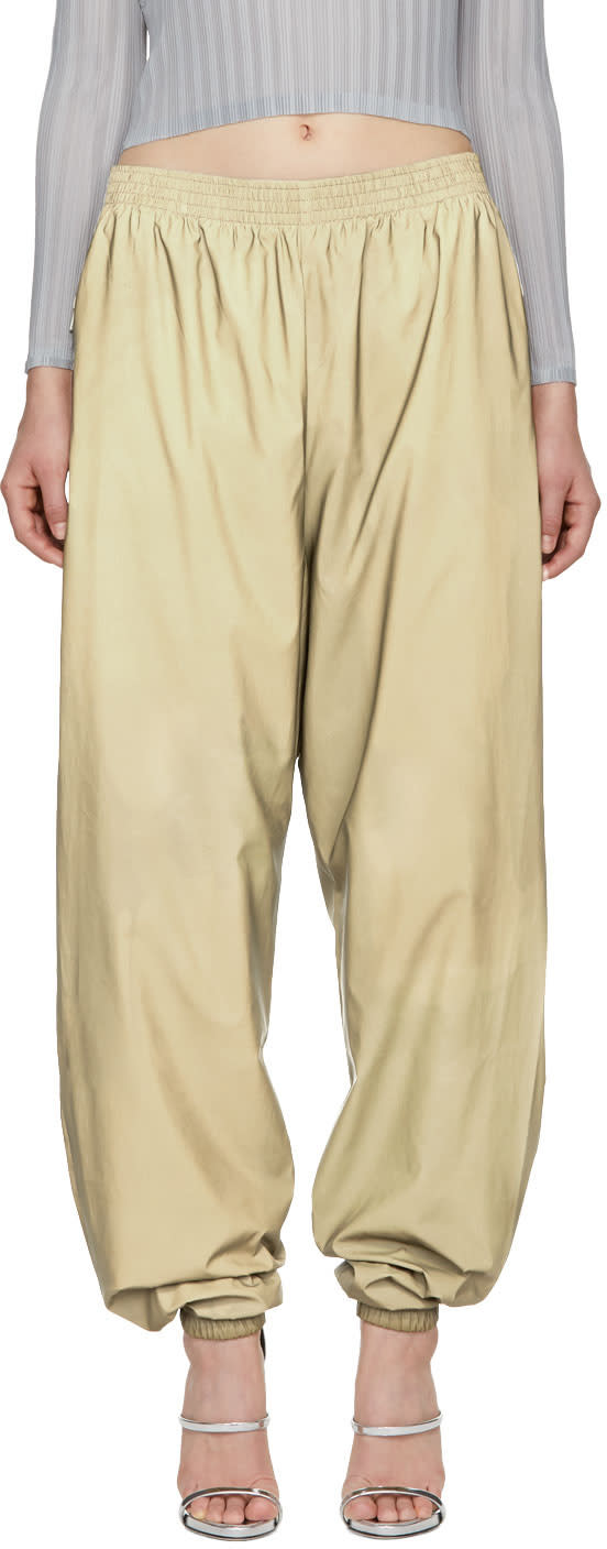 Image of Gmbh Ssense Exclusive Beige Reflective Serhat Jogging Pants