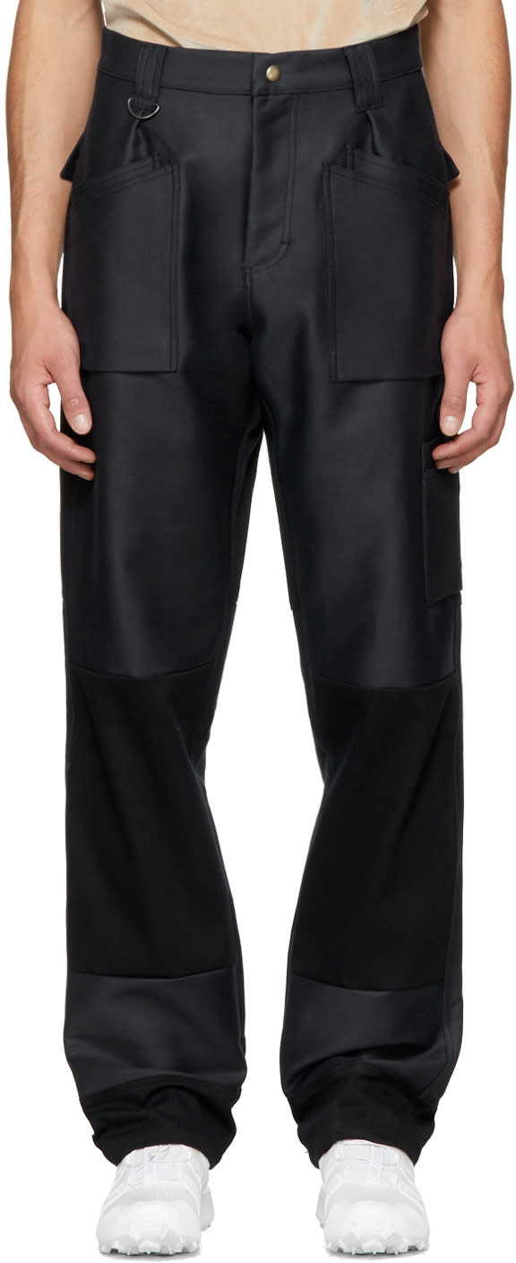 Image of Gmbh Navy and Black Viktor Work Trousers
