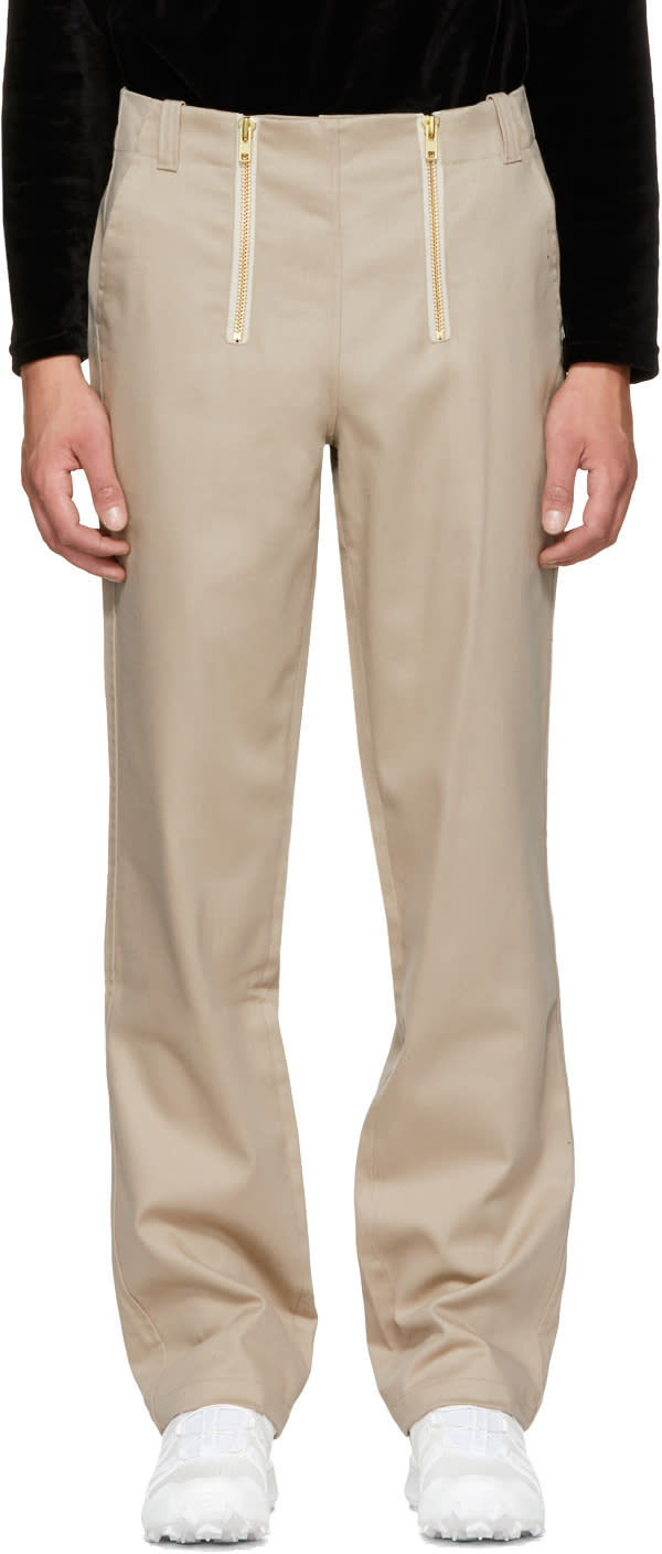 Image of Gmbh Beige Zimmerman Carpenter Trousers