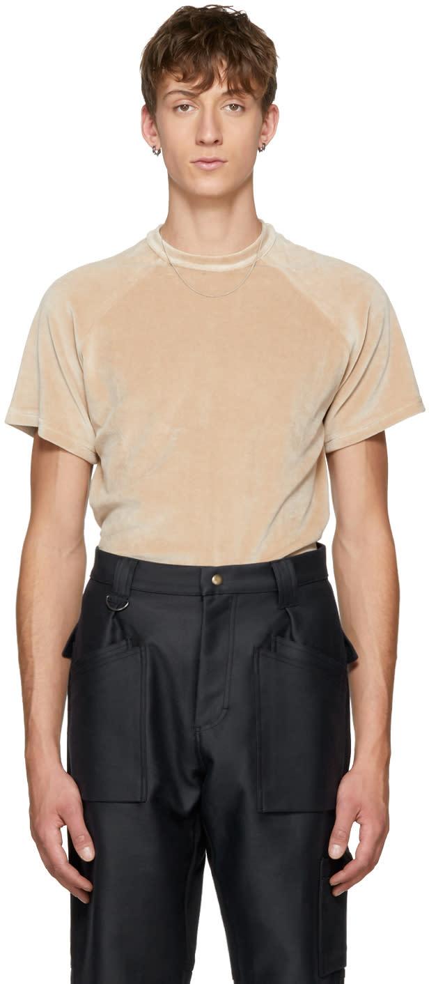 Image of Gmbh Beige Velvet Cem T-shirt