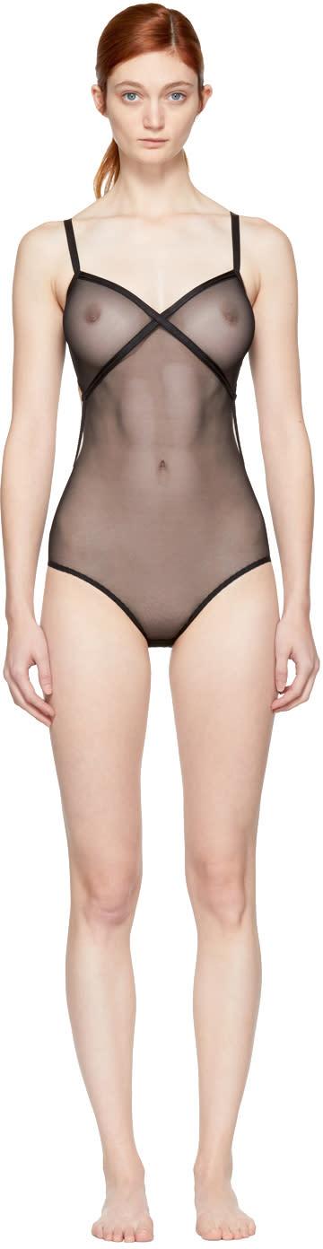 Image of Le Petit Trou Black Fabienne Bodysuit