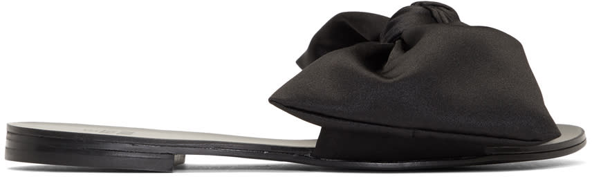 Image of Le Petit Trou Black Cleo Bow Slides