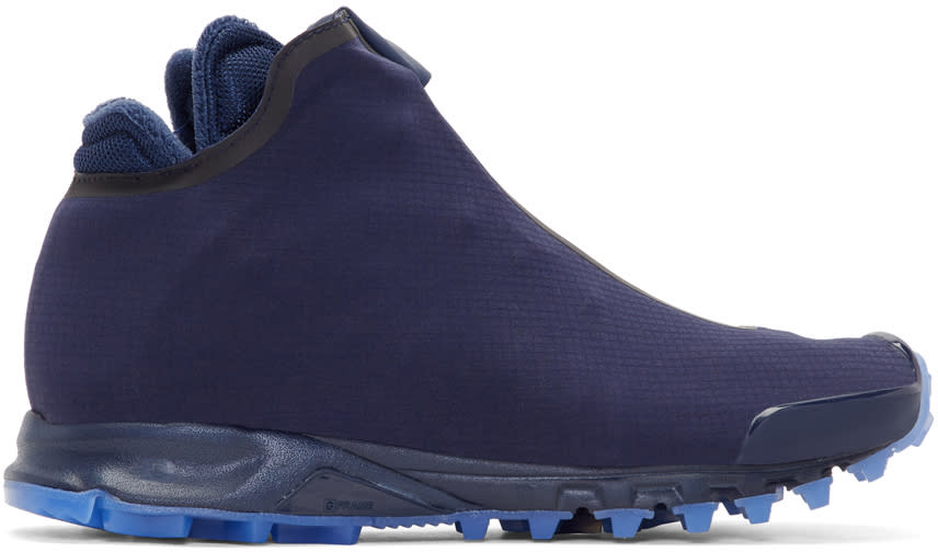 Image of Reebok × Cottweiler Navy Trail High-top Sneakers