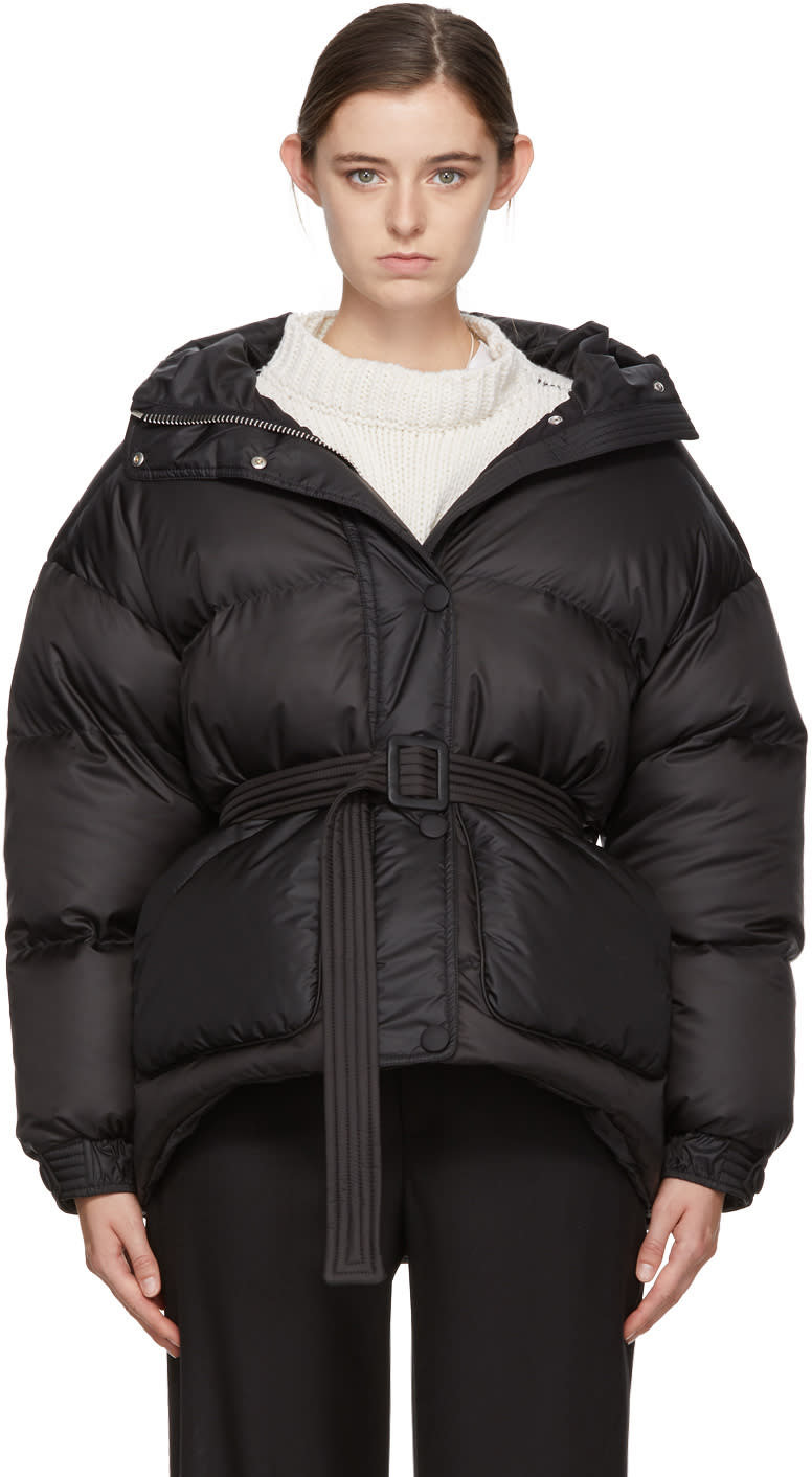 39dab3c1ecb Ienki Ienki Black Down Michelin Belted Hooded Jacket