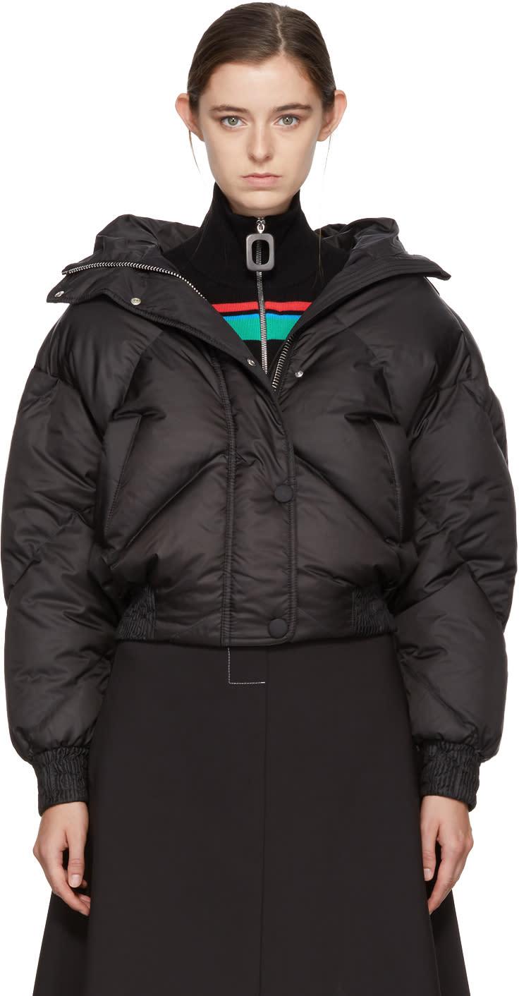 Image of Ienki Ienki Black Down Dunlop Short Hooded Jacket