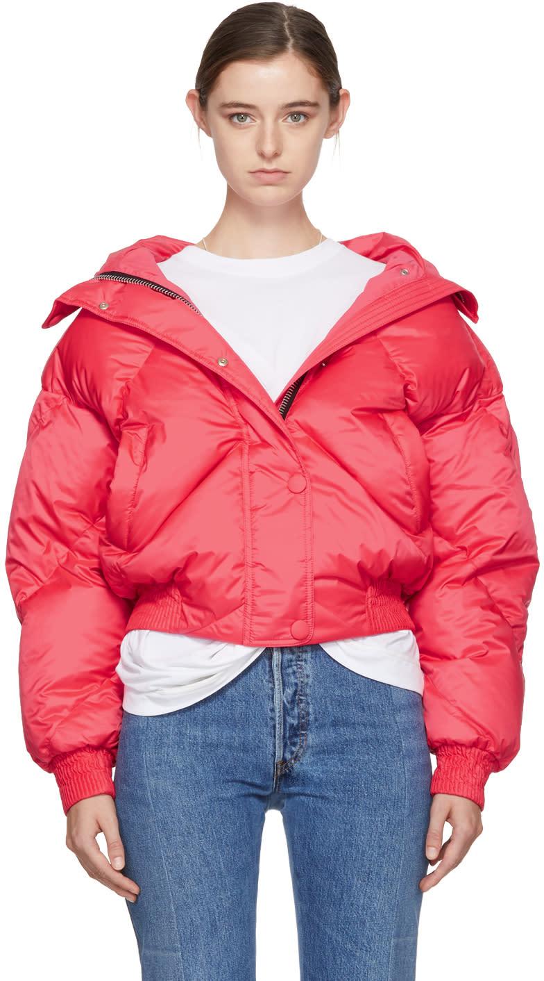 Image of Ienki Ienki Pink Down Dunlop Short Hooded Jacket