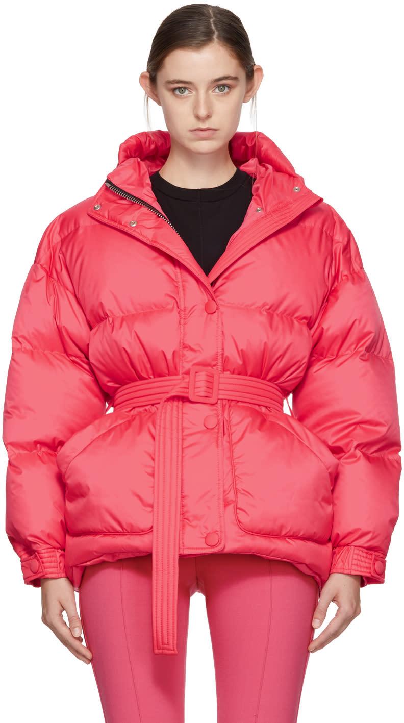 Image of Ienki Ienki Pink Down Michelin Belted Hooded Jacket