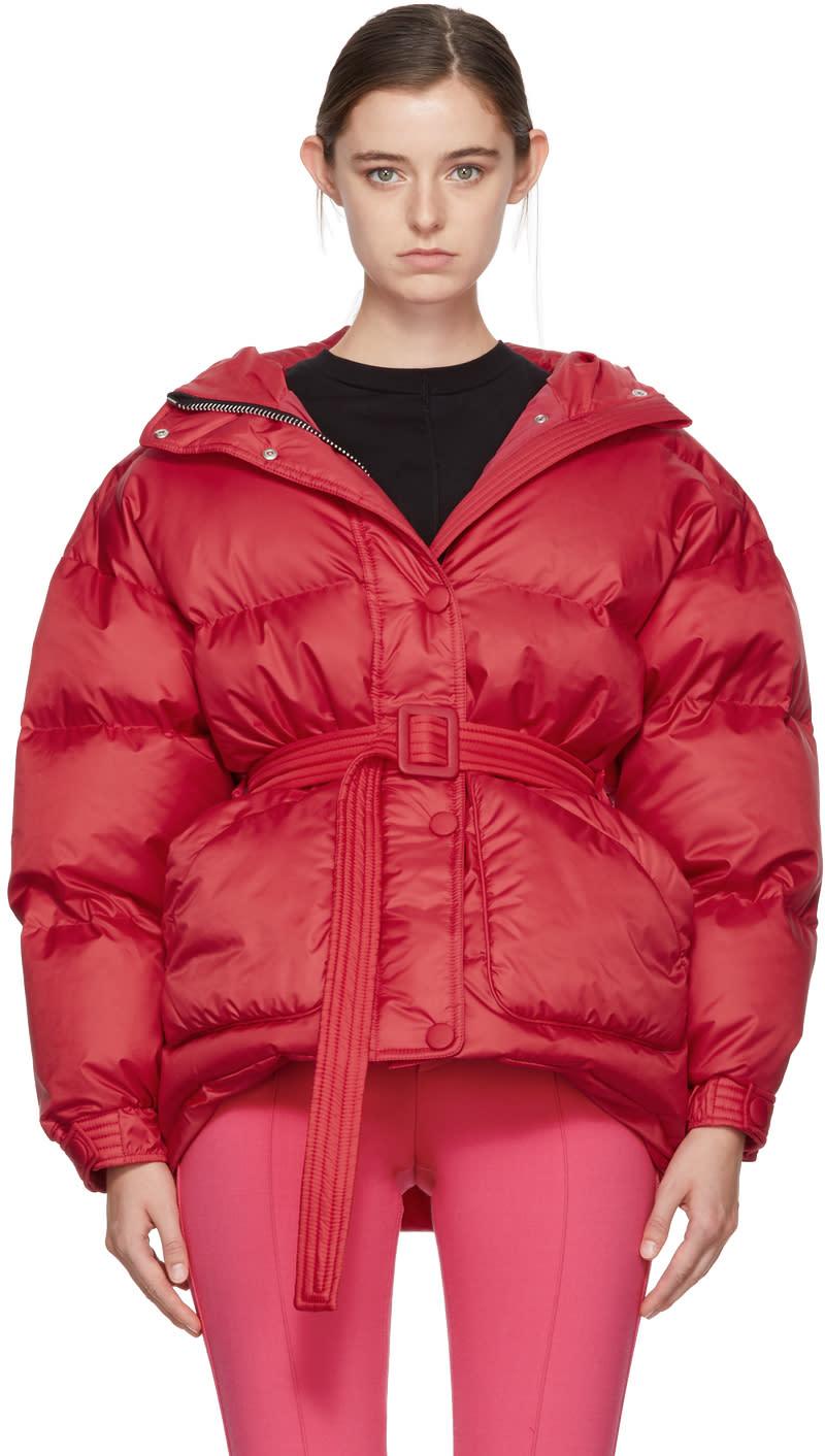 Image of Ienki Ienki Red Down Michelin Belted Hooded Jacket