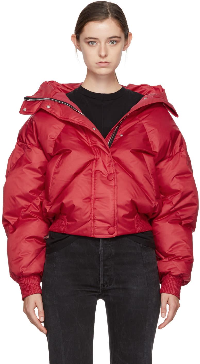 Image of Ienki Ienki Red Down Dunlop Short Hooded Jacket