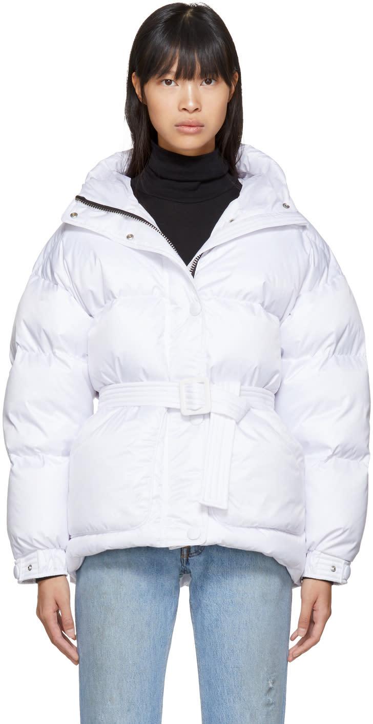 Image of Ienki Ienki White Down Michelin Belted Jacket