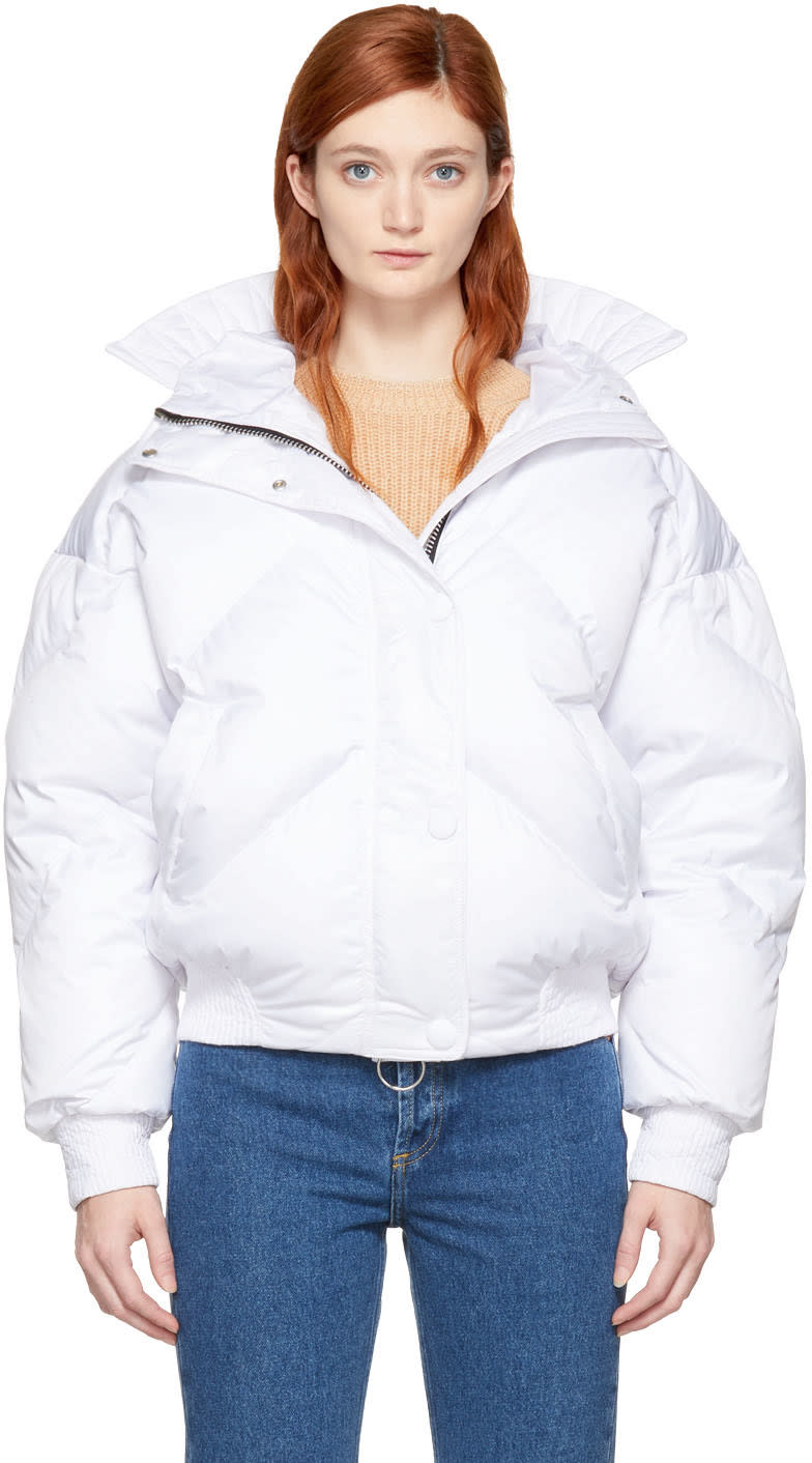 Image of Ienki Ienki White Down Dunlop Coat