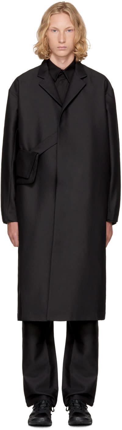 Image of Kiko Kostadinov Black 3d Lab Coat