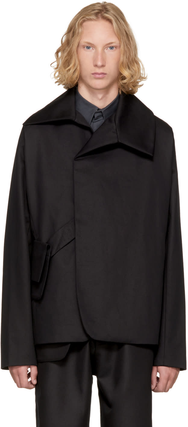 Image of Kiko Kostadinov Black Short Double Breasted Jacket