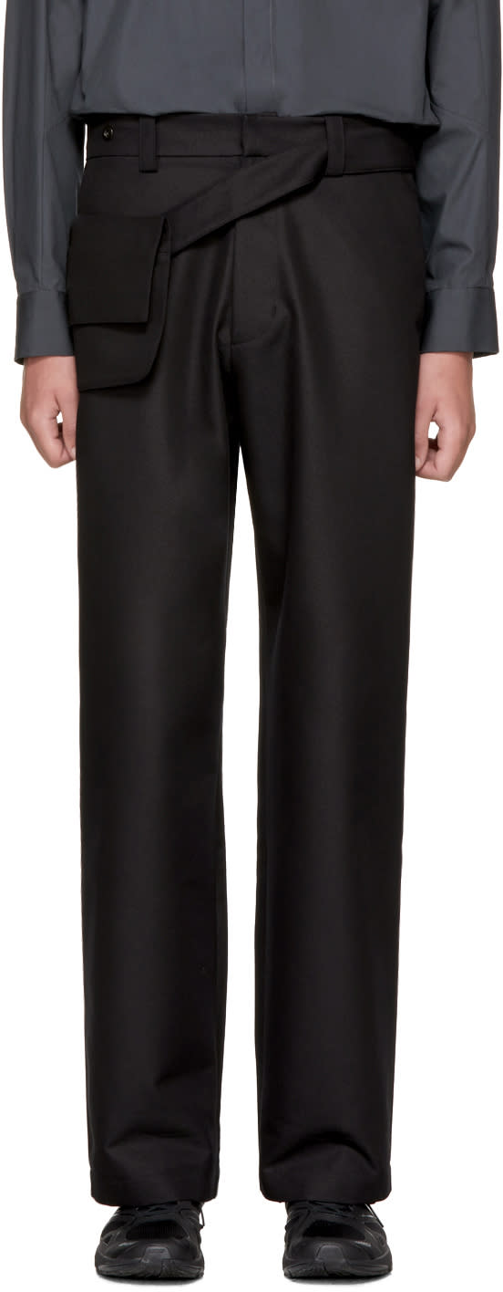 Image of Kiko Kostadinov Black Wide Pouch Trousers
