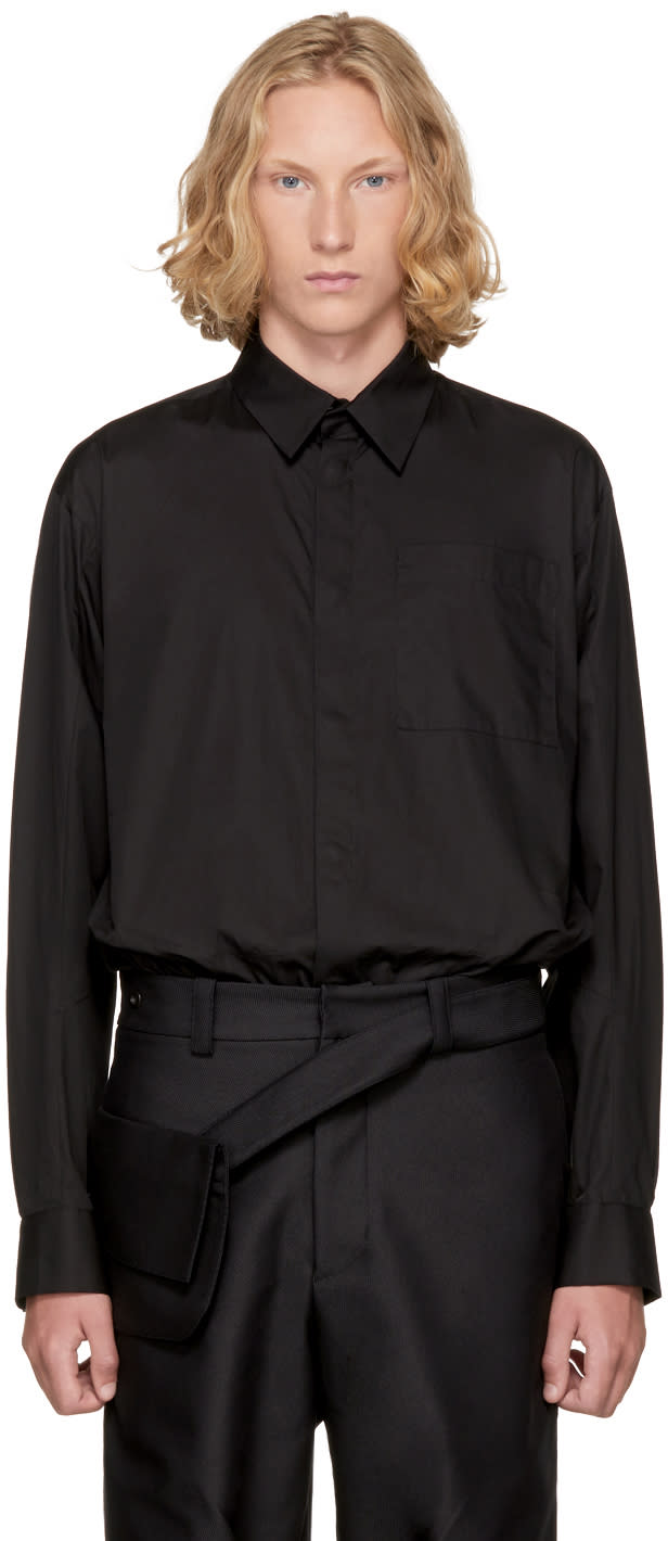 Image of Kiko Kostadinov Black Guard Shirt