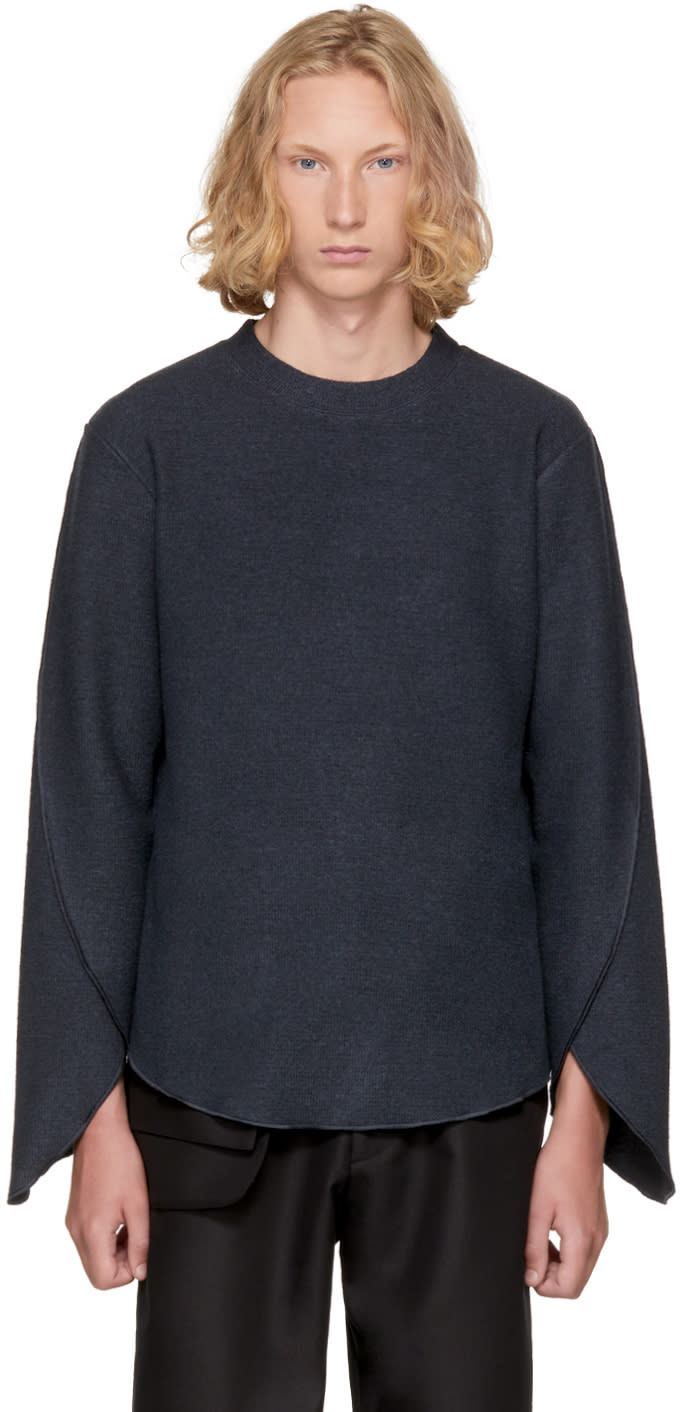 Image of Kiko Kostadinov Grey Thermal Jersey Sweater
