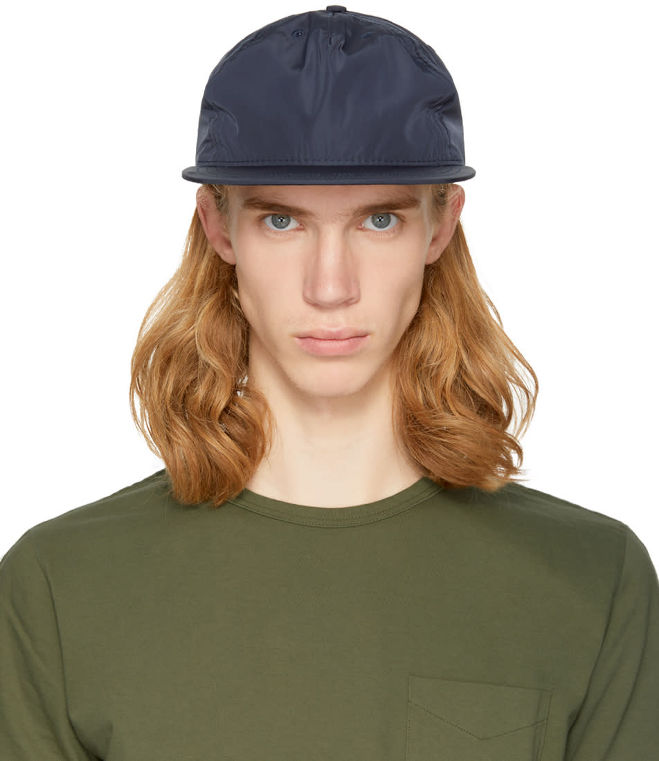 Image of Paa Navy Pleat Cap