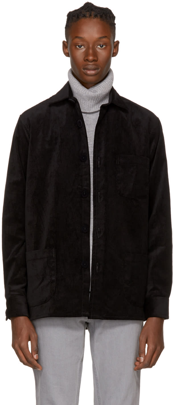 Image of Schnayderman's Black Velvet One Overshirt