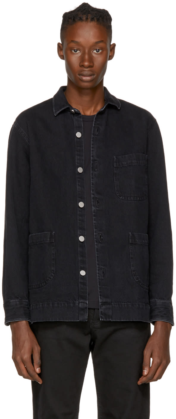 Image of Schnayderman's Black Denim One Overshirt