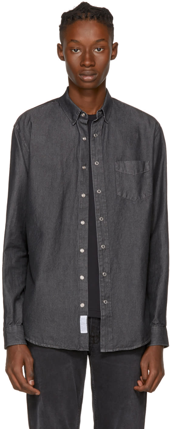Image of Schnayderman's Grey Leisure Denim One Shirt