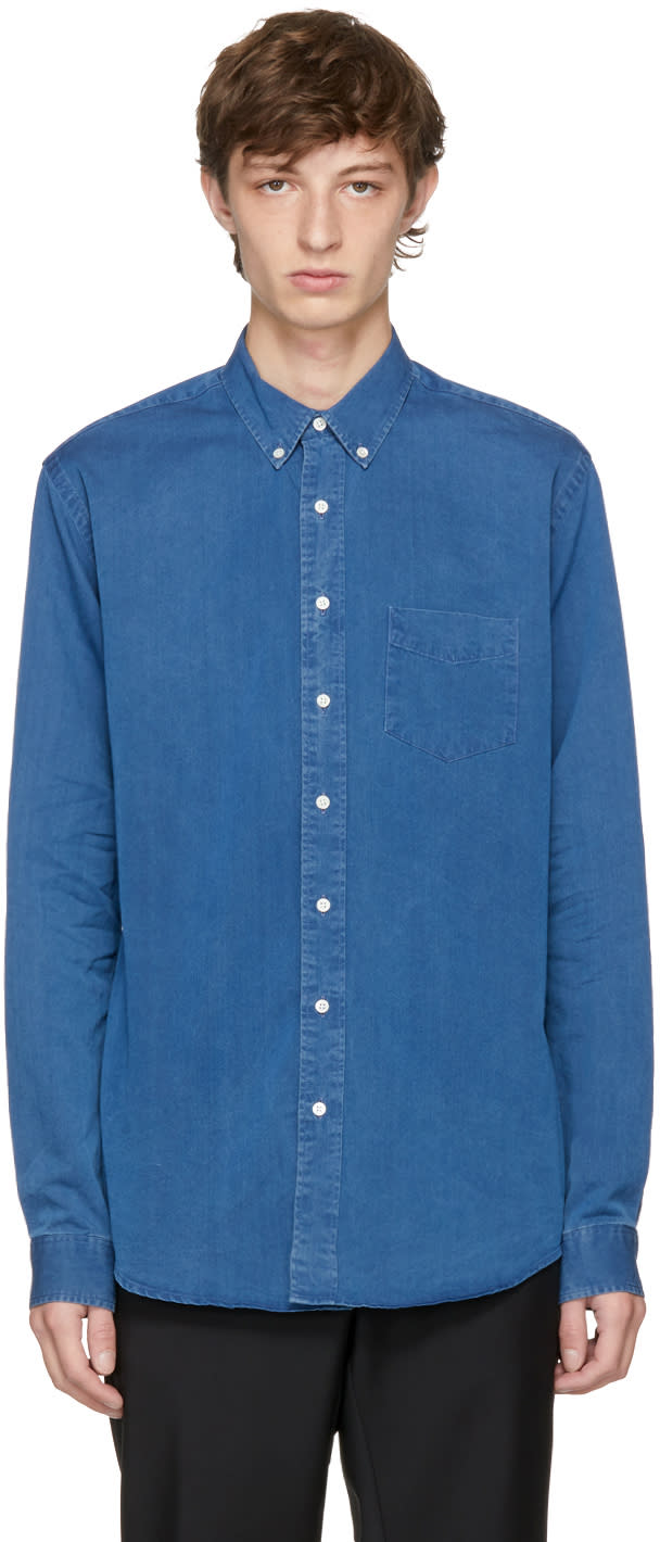 Image of Schnayderman's Indigo Jeans Leisure Shirt