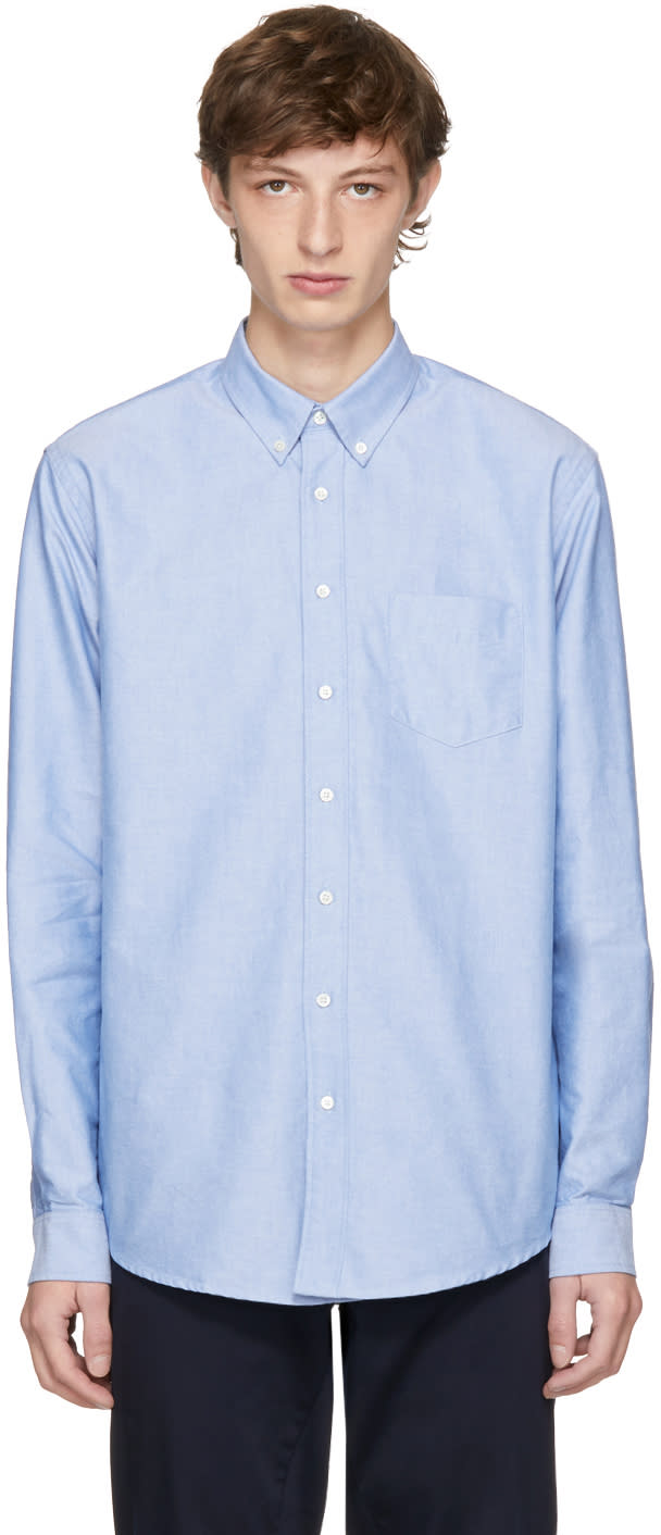 Image of Schnayderman's Blue Oxford One Shirt