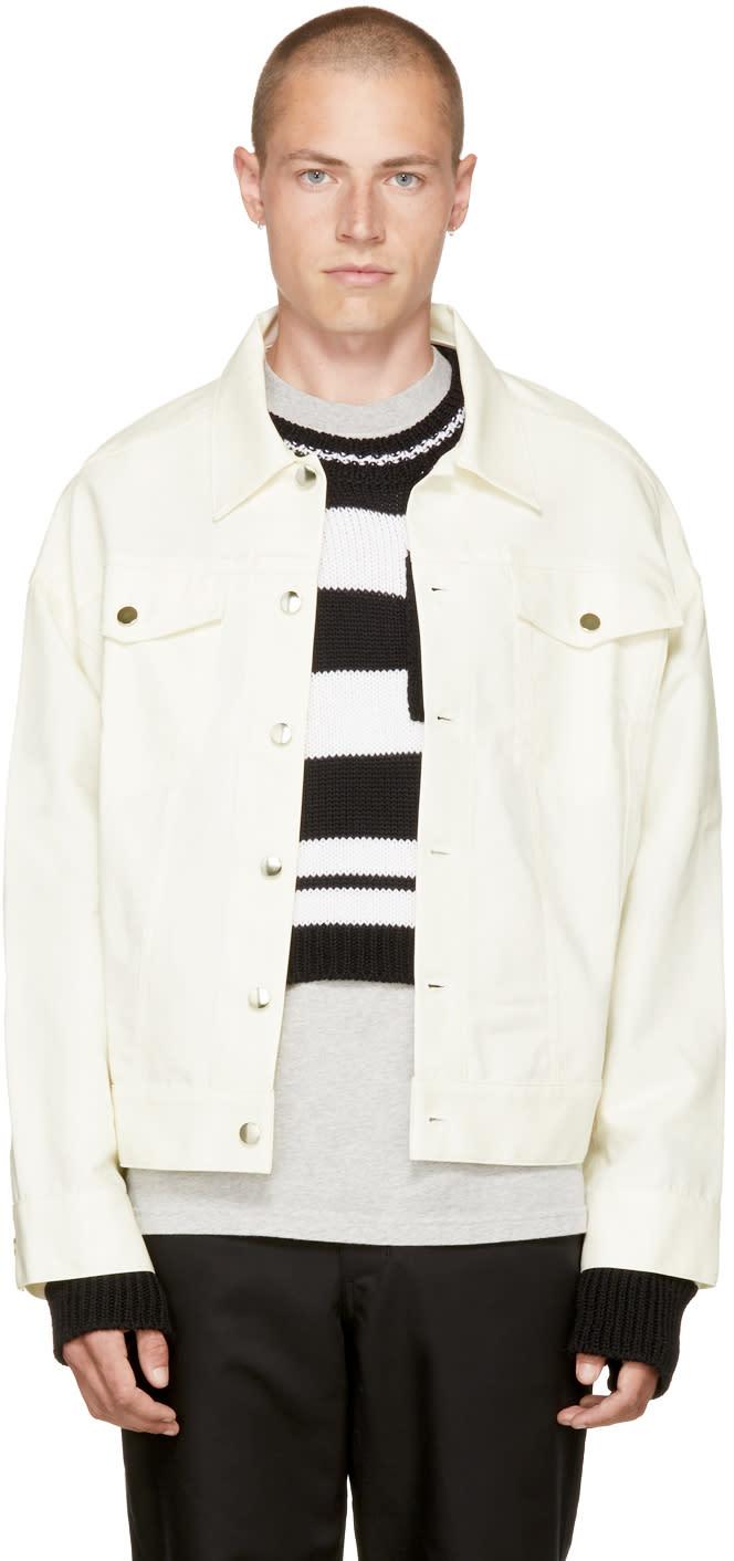 Image of Landlord White Denim Mac Jacket