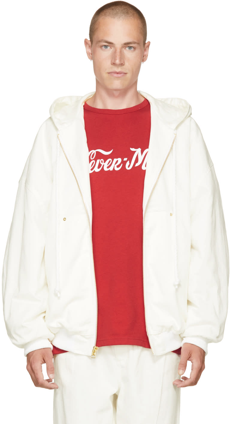 Image of Landlord White Twill Hoodie