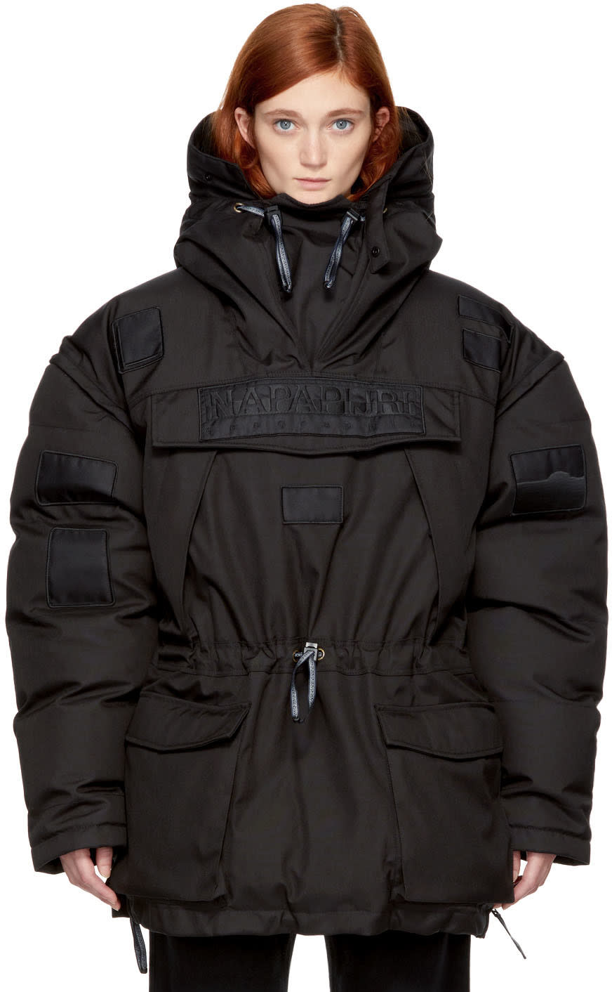 Image of Napa By Martine Rose Black Skidoo Common Pullover Anorak