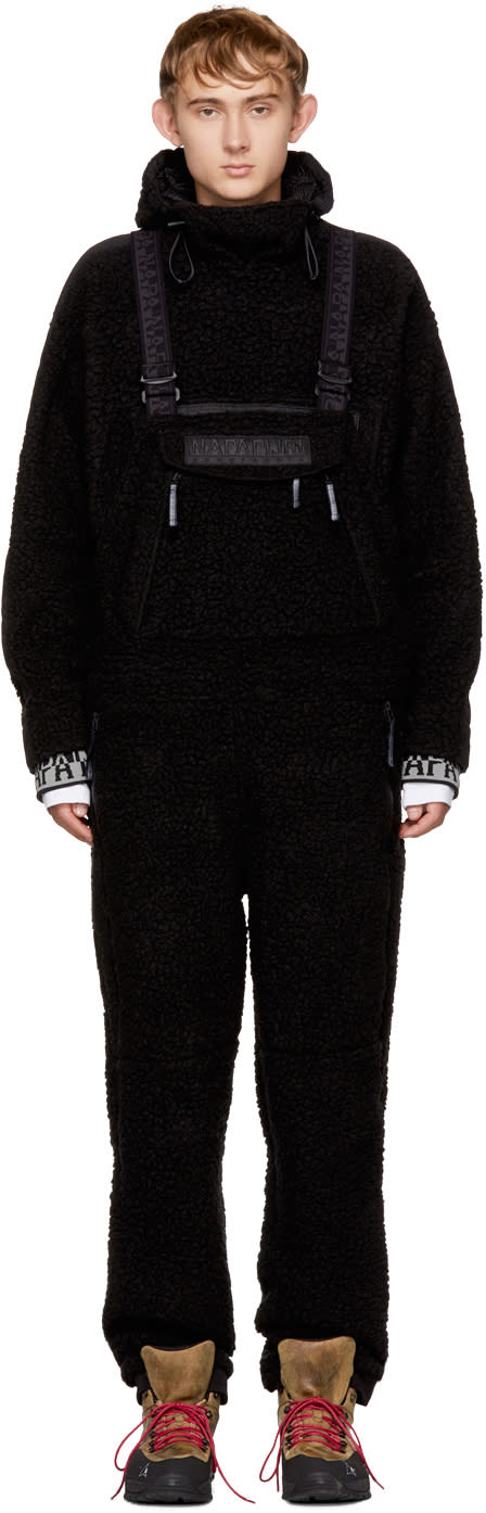 Image of Napa By Martine Rose Black Wool Monk Overalls