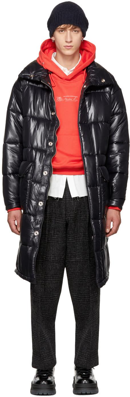 Image of N.hoolywood Black Long Nylon Coat