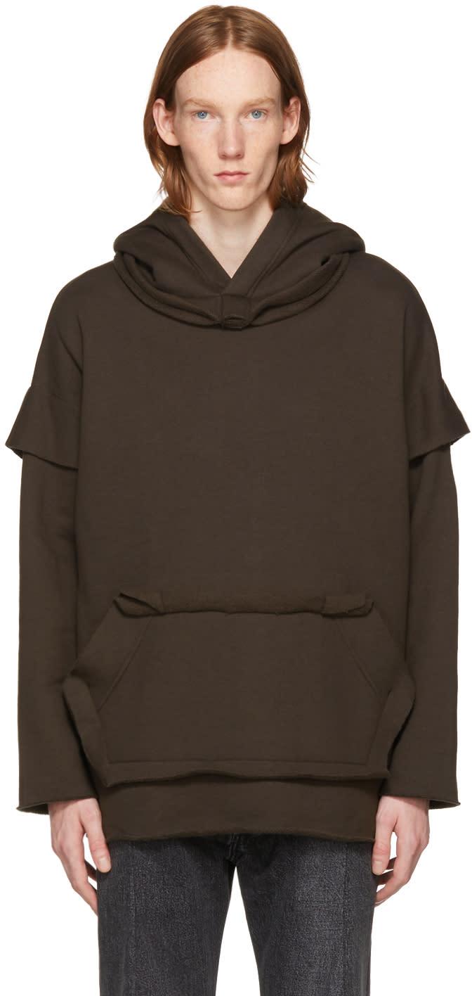 Image of N.hoolywood Grey Cotton Hoodie