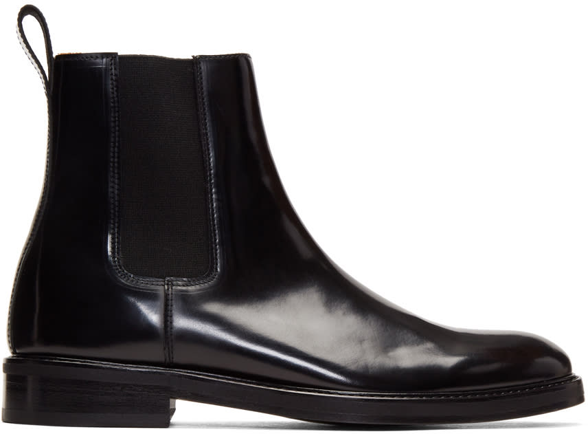 Image of Hope Black Patent Max Chelsea Boots