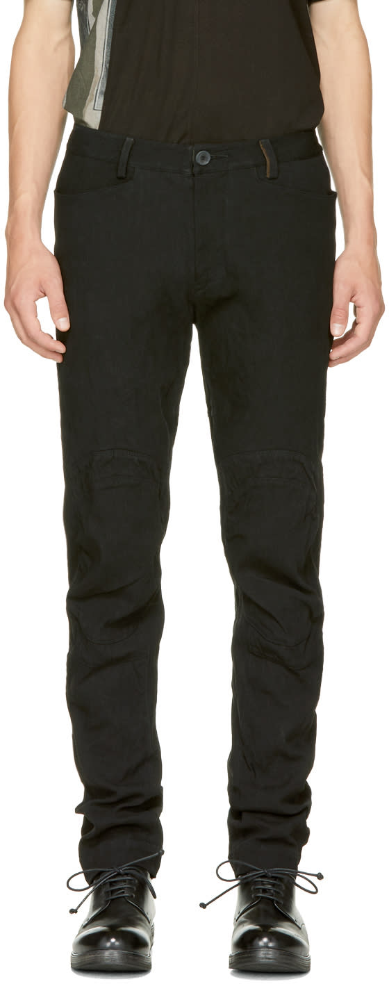 Image of Ziggy Chen Black Straight-cut Casual Trousers