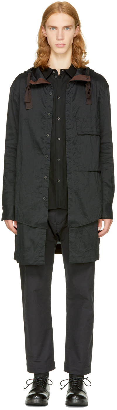 Image of Ziggy Chen Black Long Layered Shirt