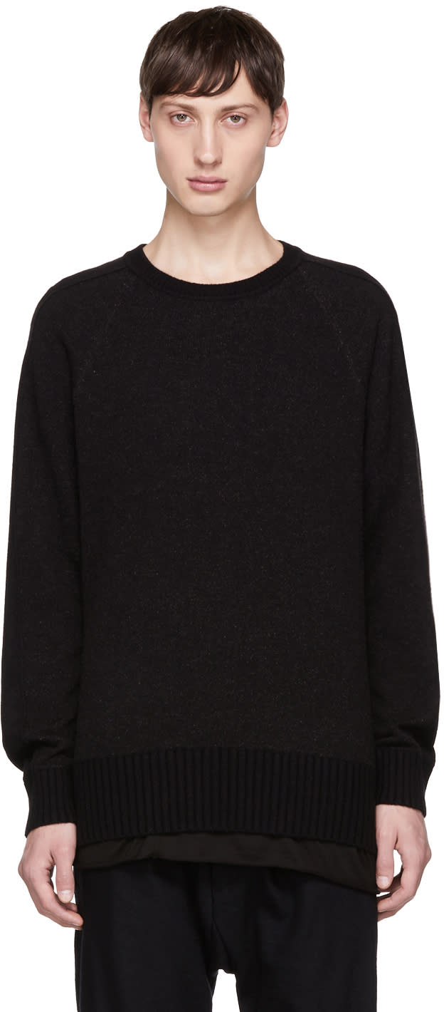 Image of Ziggy Chen Black Cashmere Sweater