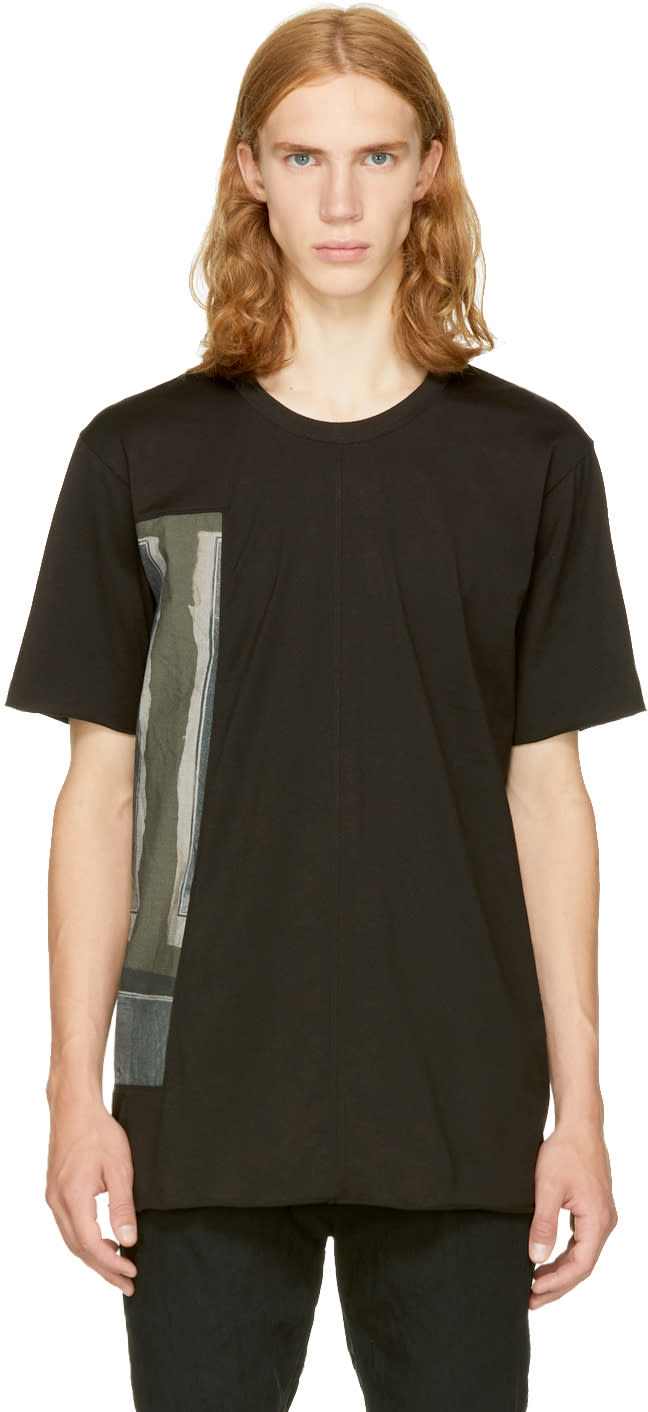 Image of Ziggy Chen Black Graphic T-shirt
