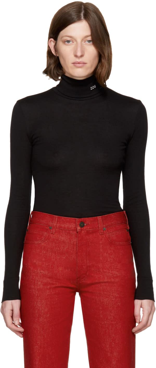 Image of Calvin Klein 205w39nyc Black 205 Jersey Turtleneck