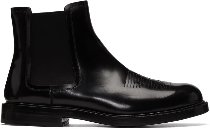 Image of Calvin Klein 205w39nyc Black Hova Chelsea Boots