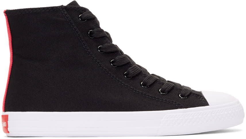 Image of Calvin Klein 205w39nyc Black Constantine 135 High-top Sneakers